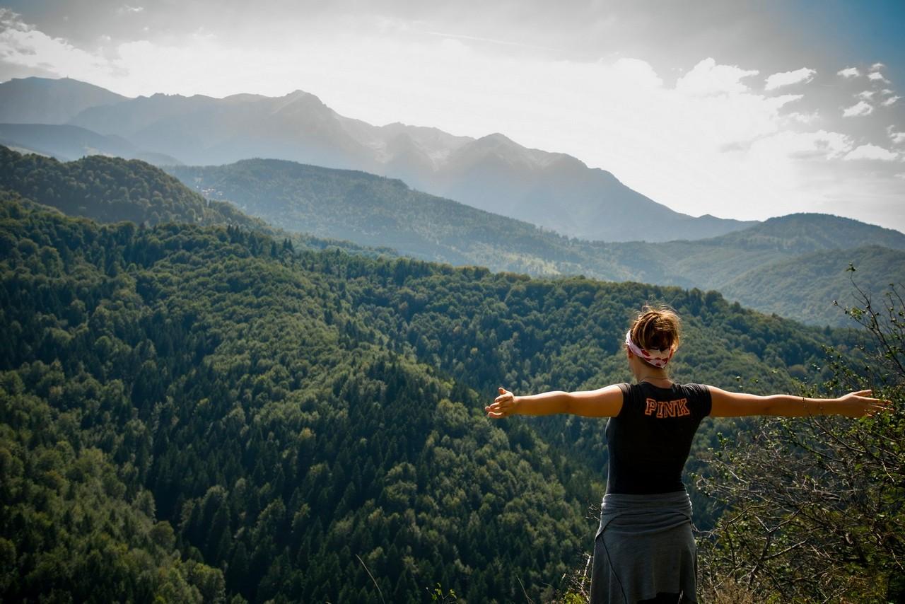 dziewczyna, góry, wolność,